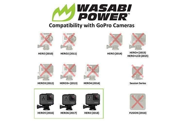 Wasabi Power Extended Battery for GoPro HERO5, 6, 7 Black and HERO 2018
