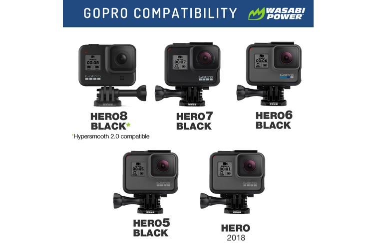 WASABI POWER BATTERY GOPRO HERO8 BLACK/7/6/5/HERO 2018