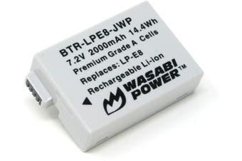 Wasabi Power Battery for Canon LP-E8, EOS 550D, EOS 600D, EOS 700D, EOS Rebel T2i, EOS Rebel T3i, EOS Rebel T4i, EOS Rebel T5i
