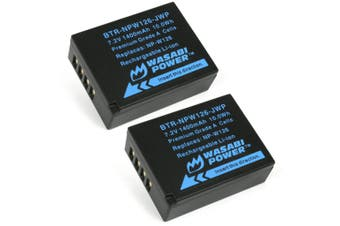 Wasabi Power 1400mAh Battery (2-Pack) for Fujifilm NP-W126