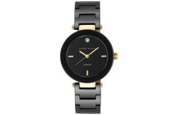 Anne Klein Diamond Black Bracelet Ladies Watch - AK1018BKBK