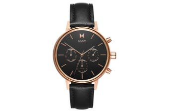 MVMT Nova Black Leather Ladies Multi-function Watch - DFC01RGBL