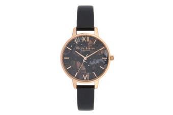 Olivia Burton Celestial Black Leather Ladies Watch - OB16GD22