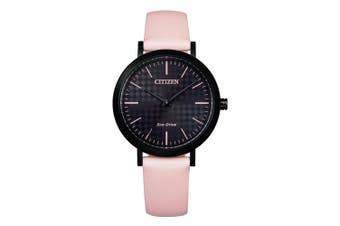 Citizen Pink Leather Ladies Solar Watch - EM0765-01E