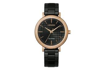 Citizen Black Steel Ladies Solar Watch - EM0768-54E