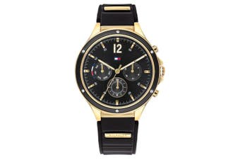 Tommy Hilfiger Black Silicone Band Ladies Multi-function Watch - 1782282