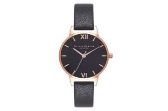 Olivia Burton Black Leather Ladies Watch - OB16MD83