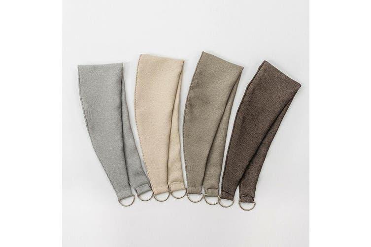 Linen Look Curtain Tie Backs 4 Colors 1 Pair Bag Color Taupe Matt Blatt