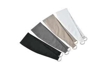 Microfiber Fabric Curtain Tieback Pair Color white