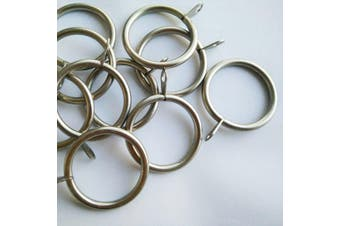 Metal Curtain Rings  Silver and Black 10pcs/Bag Color Silver