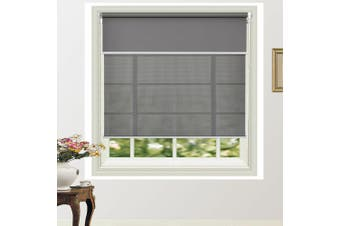 Custom Size Day/Night Double Roller Blind Flexible Conbination in Colours Colour Dark Grey