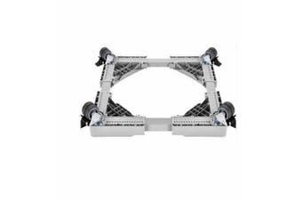 Freezer Base Bracket Stand Movable Support with Wheel Washing Machine Bracket  Color Grey