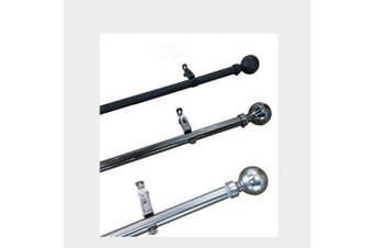 Curtain Rod/Pole 22/25mm Wide Extendable from 165cm to 320cm Three colors Color black