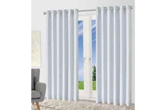 Blackout Eyelet Curtain Drape Room Darkening 160cm&230cmDrop 1 Panel Offwhite
