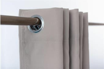 Blockout Eyelet Curtain 3 layer Pure Fabric Drapes Room Darkening  6 Colors  Colour sand