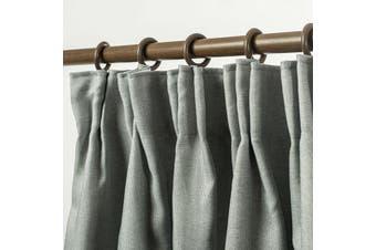 Blockout Pinch Pleat Linen Textured Curtain 230cm Drop 4 Colors 1 Panel/Bag Colour Light Grey
