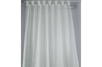 Polyester Sheer Curtains Tab Top Voile Curtain  Window Many Colors 1Pair/Bag Colour White