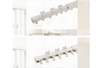 Extendable Curtain Rail Ceiling Mount Curtain Track System With Hooks 1.5m~4.1m Item Length .m~.m