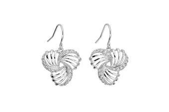 18K White Gold Plated Clear Crystals Earrings