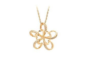Blossom Necklace - 18K Rose Gold Plated with Crystals