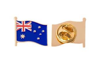 Australia Flag Brooch Pin - 12 pack