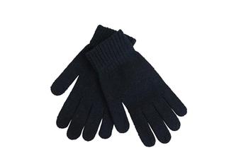 Unisex Men and Women Black Knit Gloves - Regular