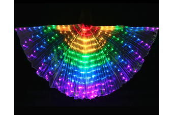 Rainbow LED Butterfly Wings