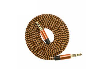 AUX Cable 3.5mm Stereo Audio Input [Colour: Bronze]
