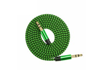 AUX Cable 3.5mm Stereo Audio Input [Colour: Green]