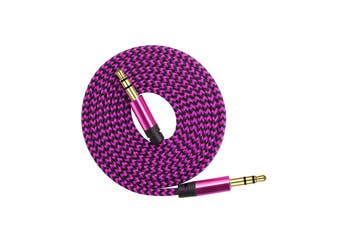 AUX Cable 3.5mm Stereo Audio Input [Colour: Pink]