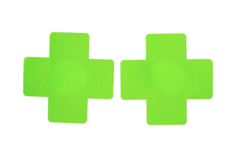 Cross Nipple Stickers [Colour: Green]