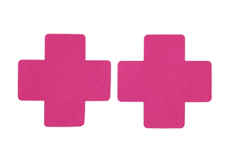 Cross Nipple Stickers [Colour: Hot Pink]