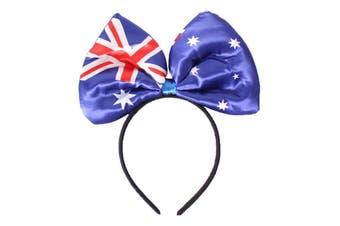 Australian Flag Bow Headband