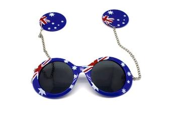 Australian Flag Sunglasses - Chain