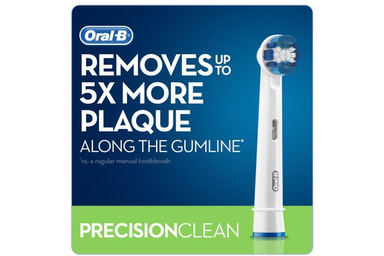 Oral-B Precision Clean Replacement Electric Toothbrush Heads Refills - 2 x Brush Heads