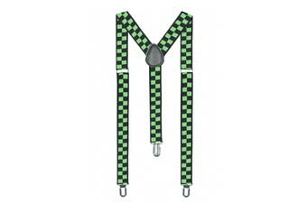 Green Suspenders - St Patricks Day [Colour: Green Checkers]