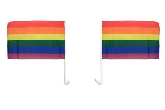 Rainbow Car Flag - 2 pack