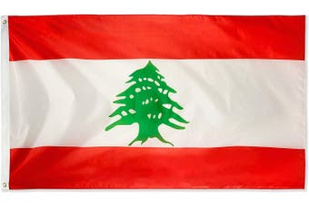 Large Lebanese Flag 90cm x 150cm - 3ft x 5ft