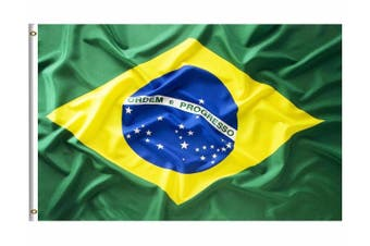 Large Brazilian Brazil Flag 90cm x 150cm - 3ft x 5ft