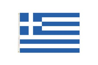 Large Greece Greek Flag 90cm x 150cm - 3ft x 5ft