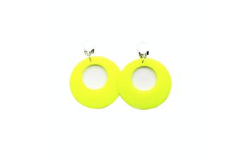 Neon Necklaces & Earrings [Colour: Earrings Neon Yellow]