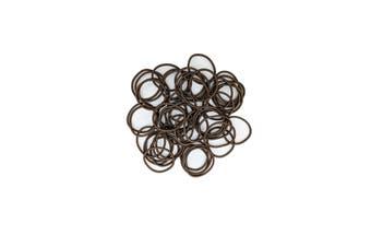 Hair Ties - 50 pack [Colour: Brown]