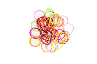 Hair Ties - 50 pack [Colour: Fluro Mix]