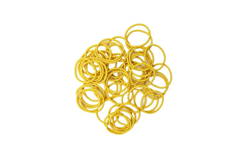 Hair Ties - 50 pack [Colour: Golden Yellow]