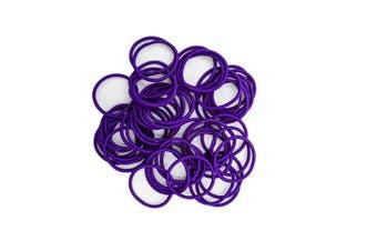 Hair Ties - 50 pack [Colour: Royal Purple]