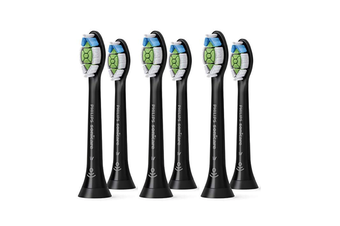 Philips Sonicare Optimal White Replacement Black - 6 pack