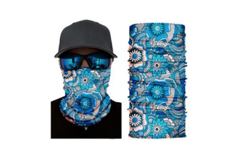 Face Shield Mask [Pattern: Floral Blue]