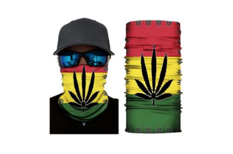 Face Shield Mask [Pattern: Jamaican Weed Leaf]