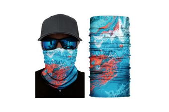 Face Shield Mask [Pattern: Paint Blue & Red Splash]