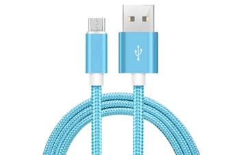 Micro USB Braided Phone Cable [Colour: Blue]